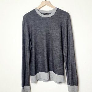 Theory 100% Wool Crewneck Pullover Sweater Sz L